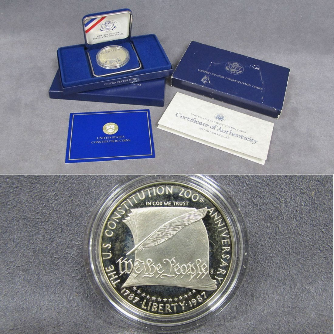 67: UNITED STATES COMMEMORATIVE SILVER DOLLAR COIN