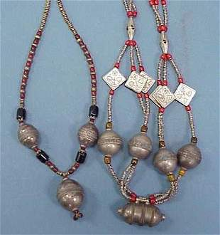 LOT (2) SOUTH WESTERN ASIAN NECKLACES