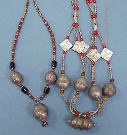 10: LOT (2) SOUTH WESTERN ASIAN NECKLACES