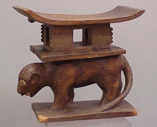 11: AFRICAN CARVED ANIMAL TRIBAL SEAT