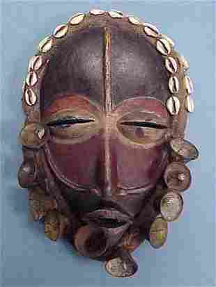 DAN CARVED/PAINTED MASK WITH BELLS