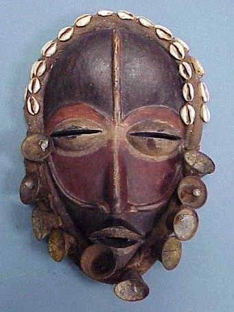 23: DAN CARVED/PAINTED MASK WITH BELLS