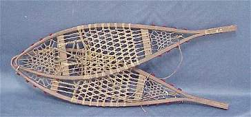 264 PAIR EARLY OAKGUT SNOWSHOES