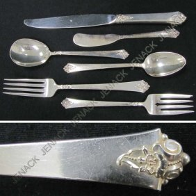 "4: ROYAL CREST ""CASTLE ROSE"" STERLING SILVER FLATWARE"