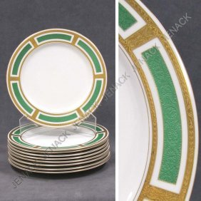 5: LOT (9) ROYAL WORCESTER PORCELAIN DINNER PLATES