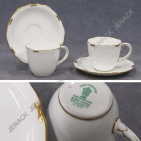 "SET (12) ROYAL CROWN DERBY ""REGENCY"" DEMITASSE"