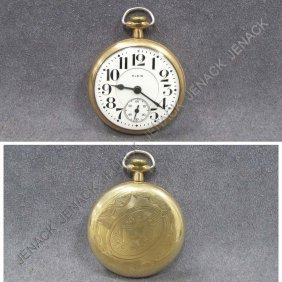 ELGIN/B.W. RAYMOND GOLD FILLED POCKET WATCH