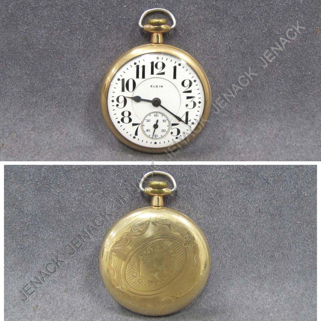 13: ELGIN/B.W. RAYMOND GOLD FILLED POCKET WATCH