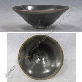 14: CHINESE GLAZED BLACKWARE BOWL, SUNG