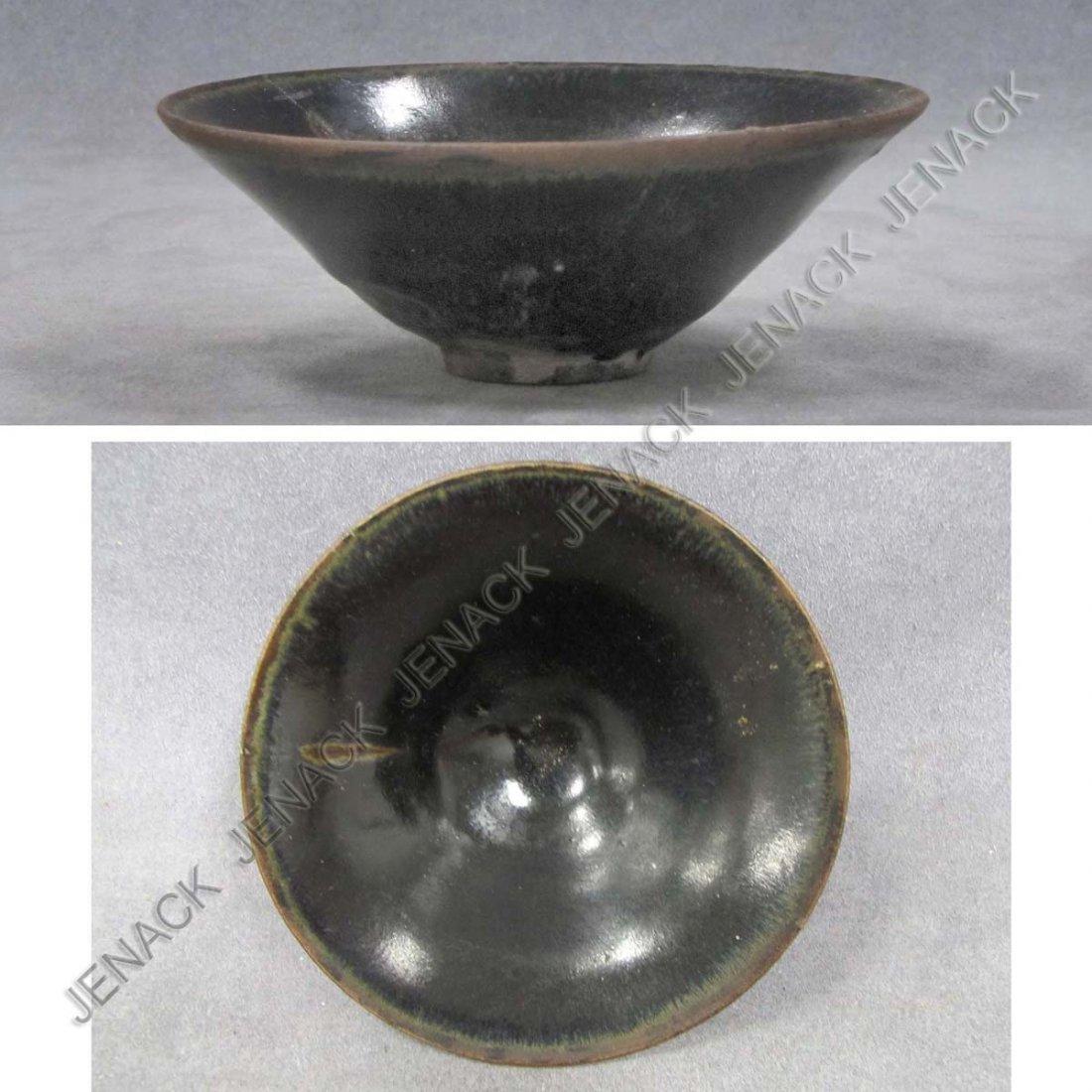 14: CHINESE GLAZED BLACKWARE BOWL, SUNG