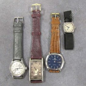 17: LOT (4) ASSORTED VINTAGE WRISTWATCHES