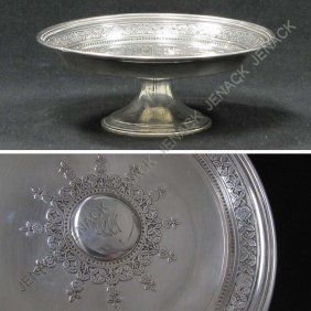 22: TIFFANY & CO. MAKERS STERLING COMPOTE, MOORE MARK