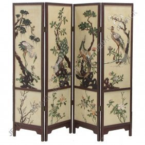 24: CHINESE 4-PANEL CORONANDEL SCREEN