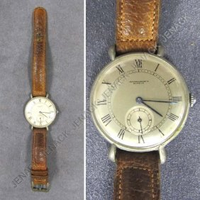 117: VINTAGE VACHERON AND CONSTANTIN STEEL WRISTWATCH