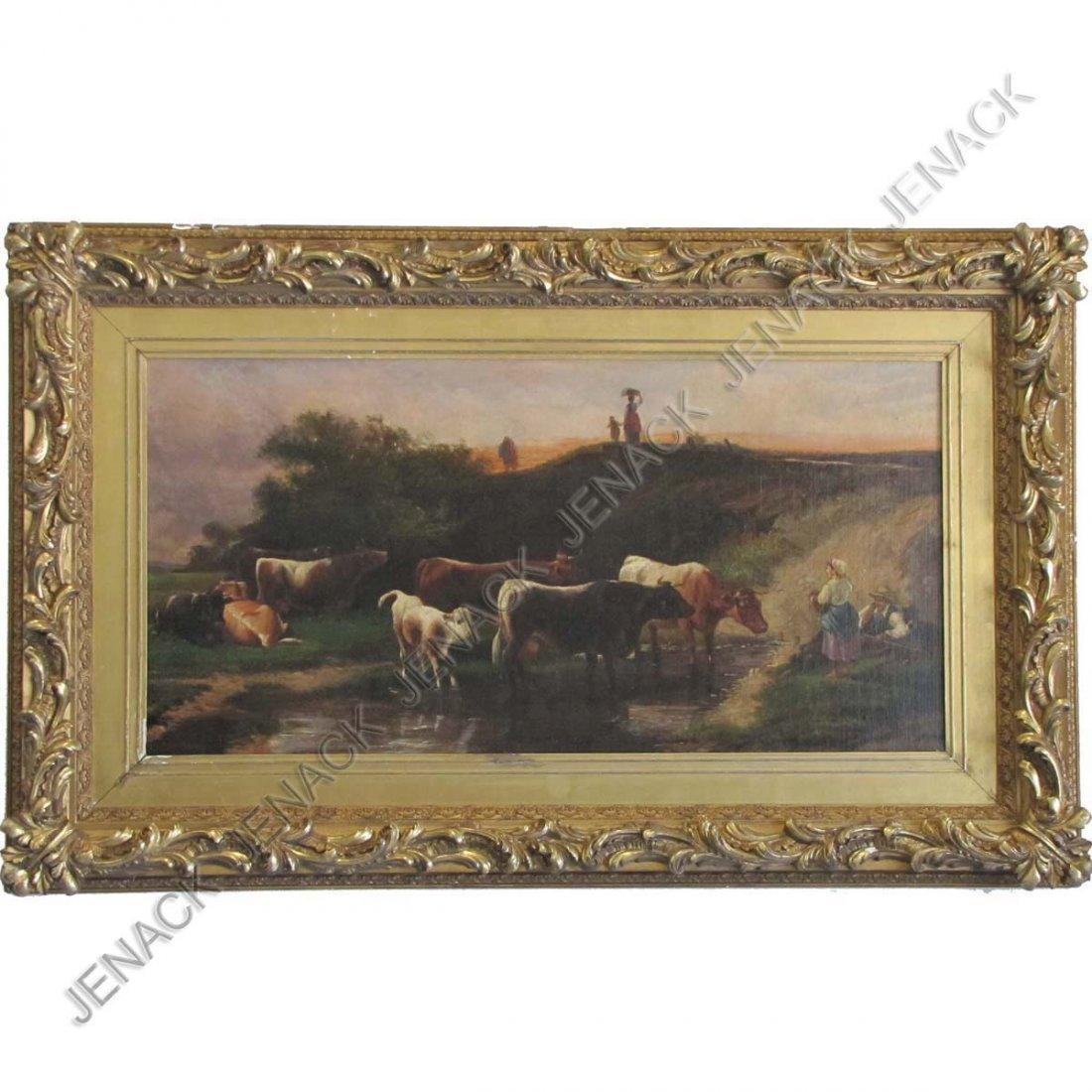 247: EDOUARD DEBAT-PONSAN (FRENCH 1847-1913) OIL