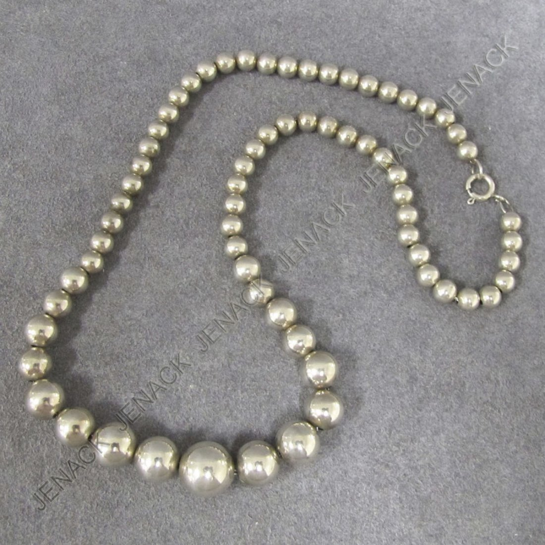 2: STERLING GRADUATED 5.9-11.9MM BEADED NECKLACE