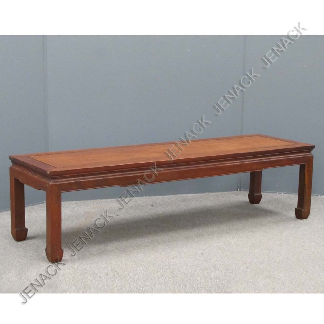 7: CHINESE CARVED HARDWOOD LOW TABLE