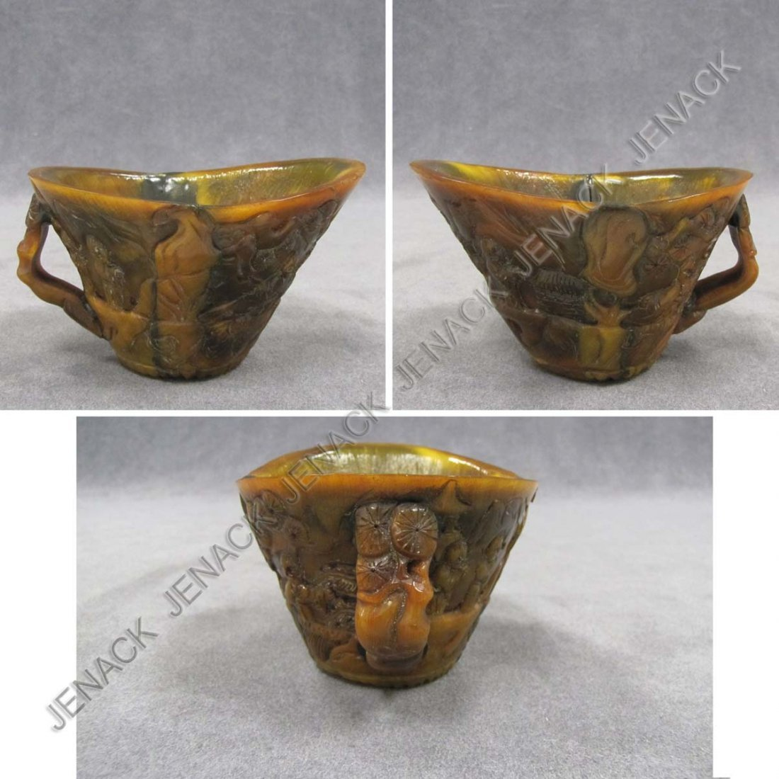 20: CHINESE CARVED HORN CUP