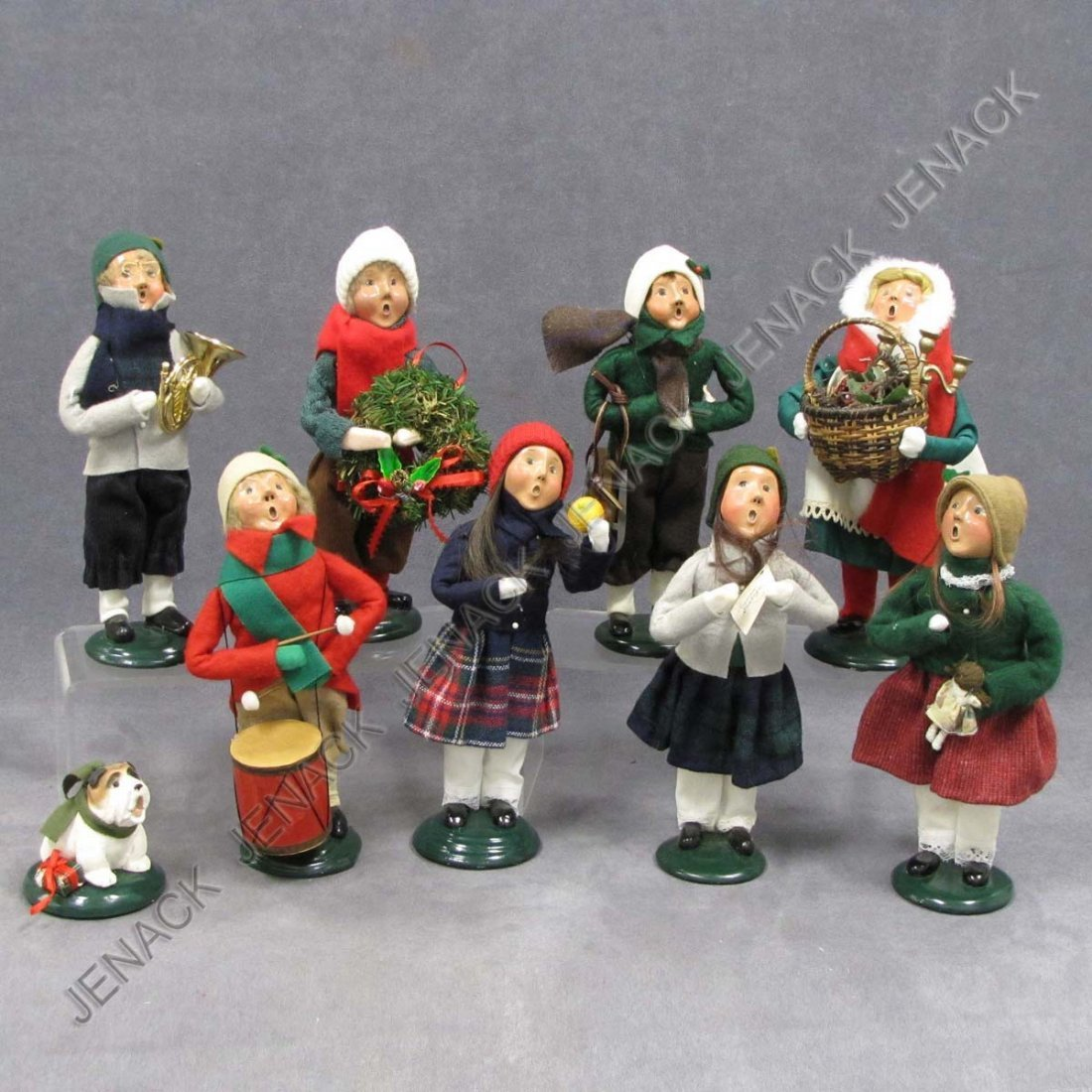 1: LOT (9) BYERS CHOICE CHRISTMAS CAROLERS