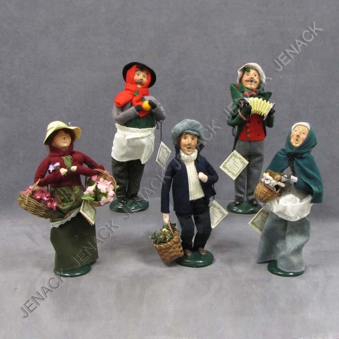 10: LOT (5) BYERS CHOICE CHRISTMAS CAROLERS