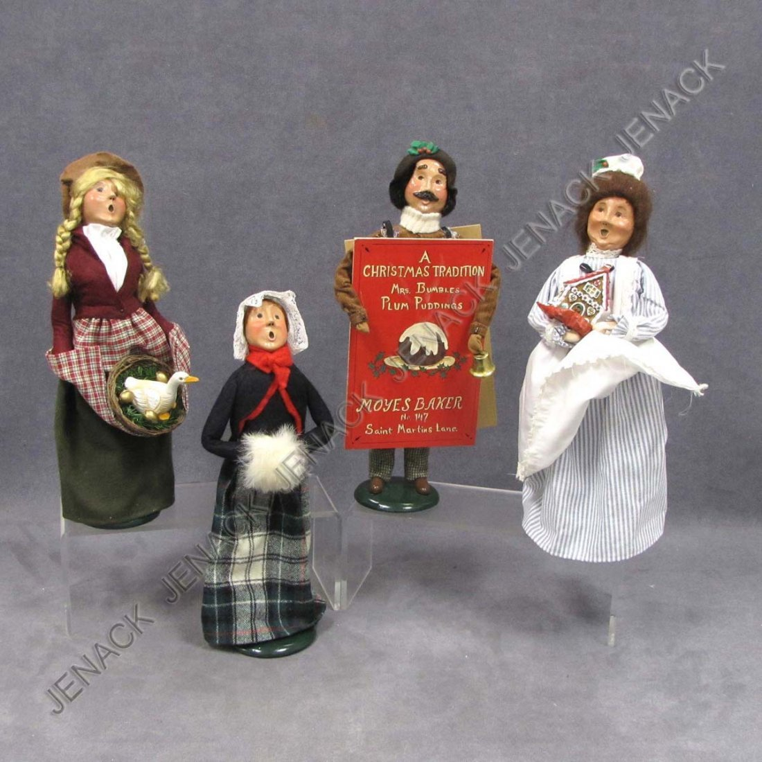 18: LOT (4) BYERS CHOICE CHRISTMAS CAROLERS