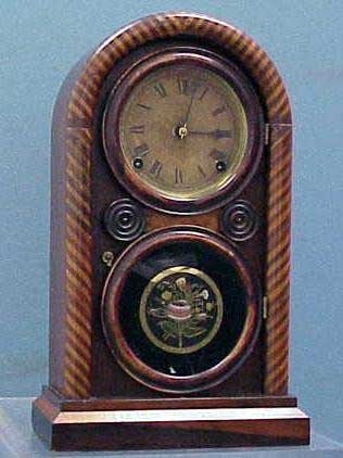 5: INGRAHAM ROSEWOOD CANDY STRIPE CLOCK