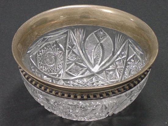 13: REED & BARTON STERLING/GLASS BOWL