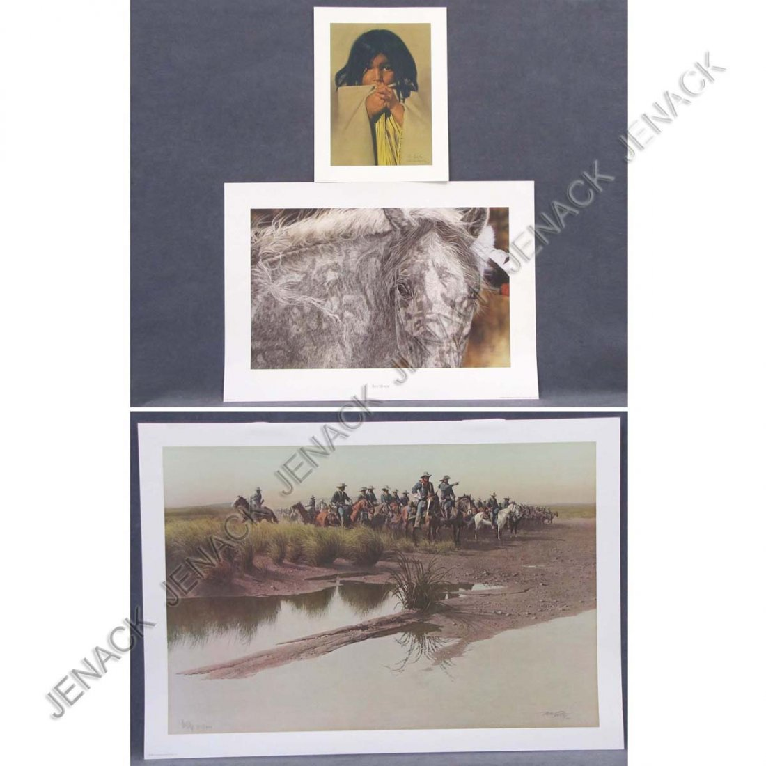 7: LOT (3) OFFSET LITHOGRAPHS INCLUDING JUDY LARSON