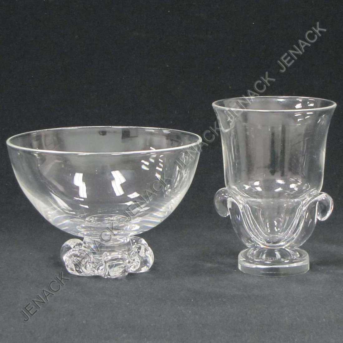 8: LOT (2) STEUBEN INCLUDING CRYSTAL BOWL AND VASE