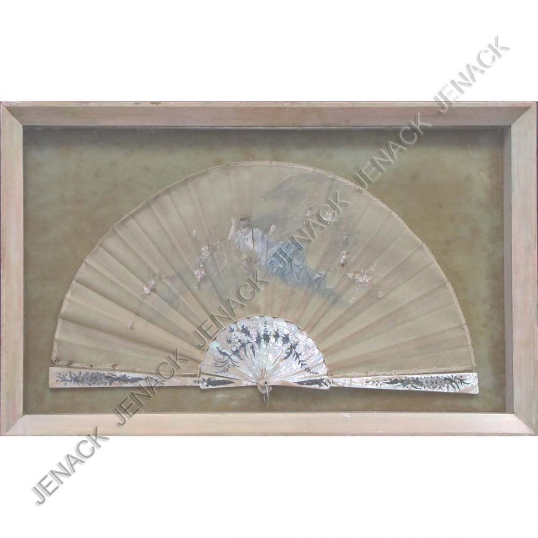 16: VINTAGE CONTINENTAL SILVER INLAID FAN