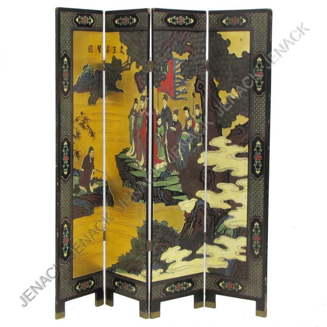 23: VINTAGE CHINESE 4-PANEL CORAMANDLE SCREEN