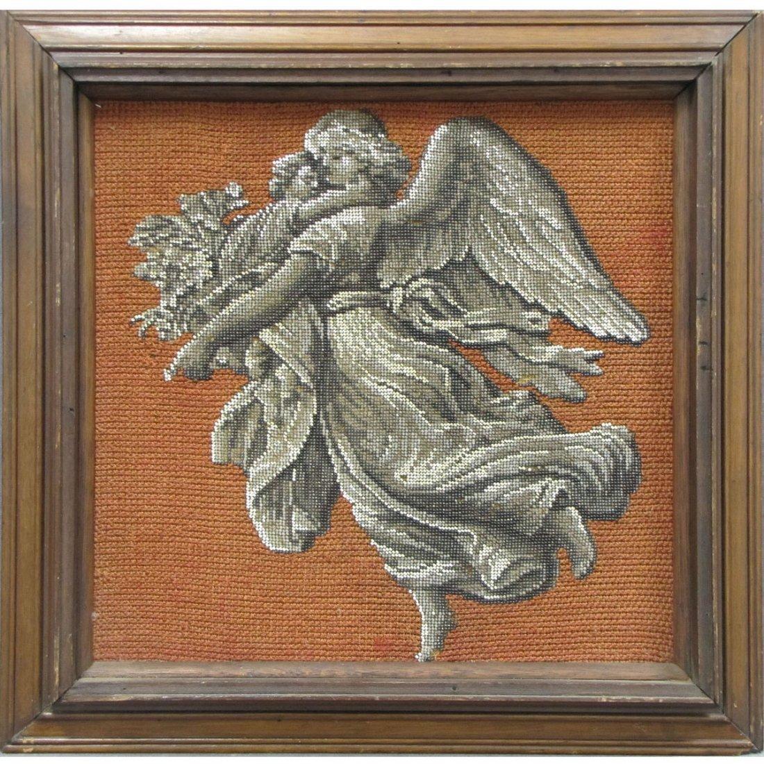 4: ANTIQUE BERLIN WORK PANEL, GUARDIAN ANGEL