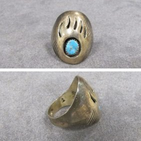 13: SOUTHWEST AMERICAN INDIAN STERLING RING
