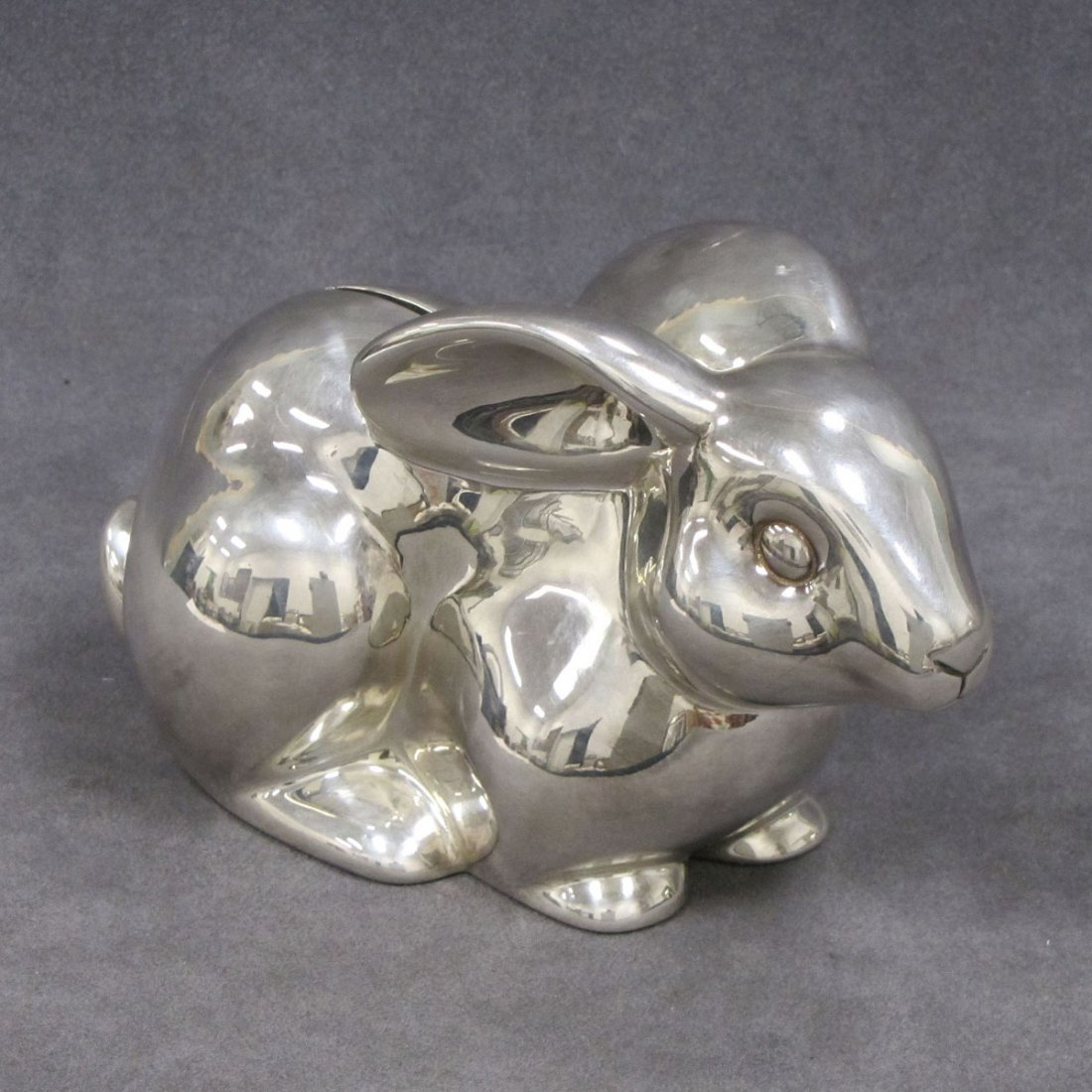 TIFFANY & CO. STERLING SILVER RABBIT COIN BANK