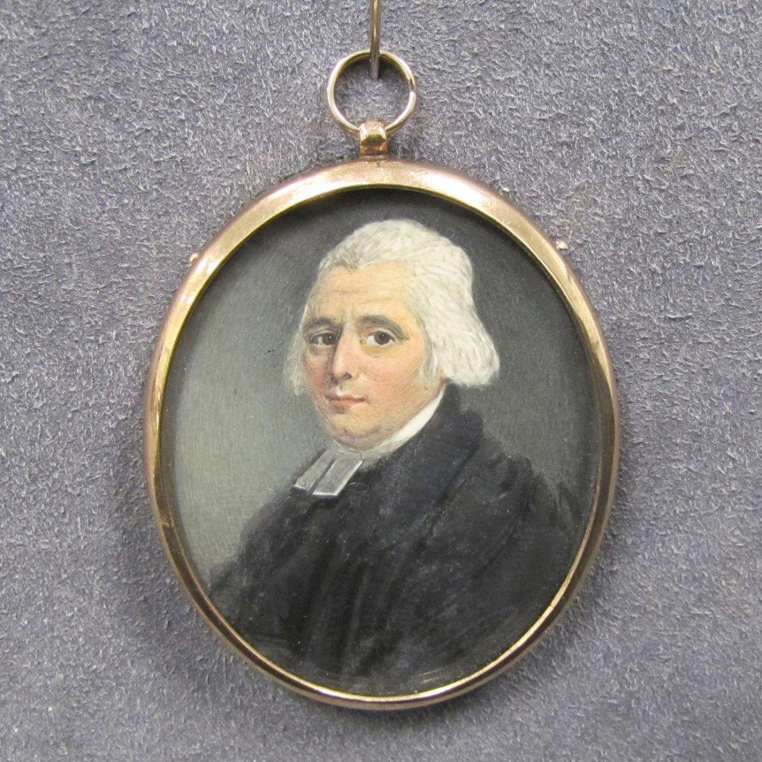 J. NAISH (BRITISH 19TH CENTURY) PORTRAIT MINIATURE
