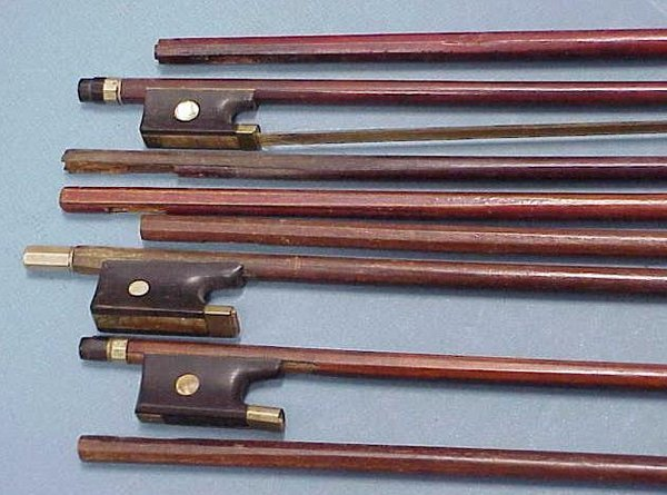 2001: LOT (9) VINTAGE VIOLIN BOWS