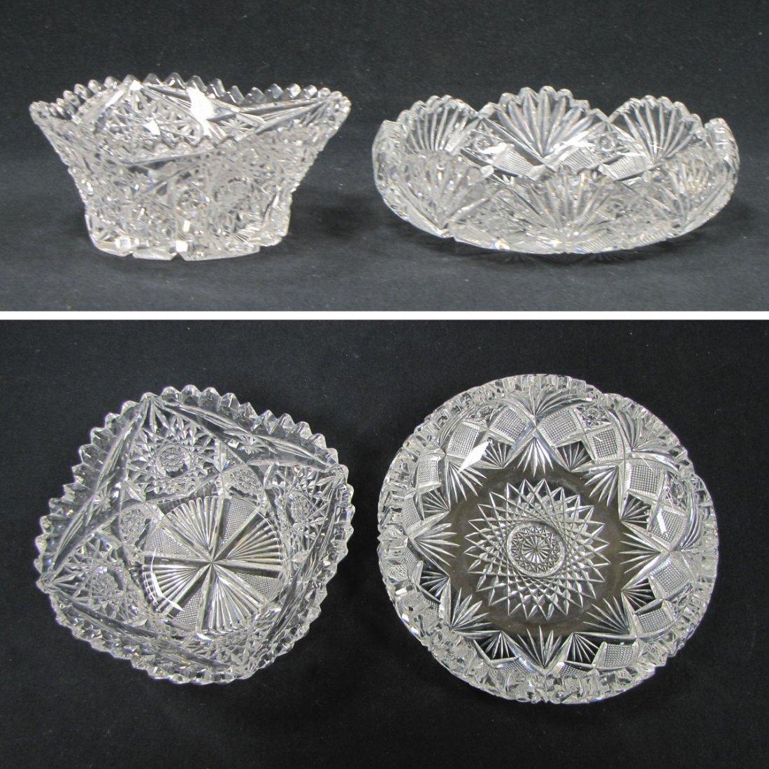 LOT (2) AMERICAN BRILLIANT CUT GLASS