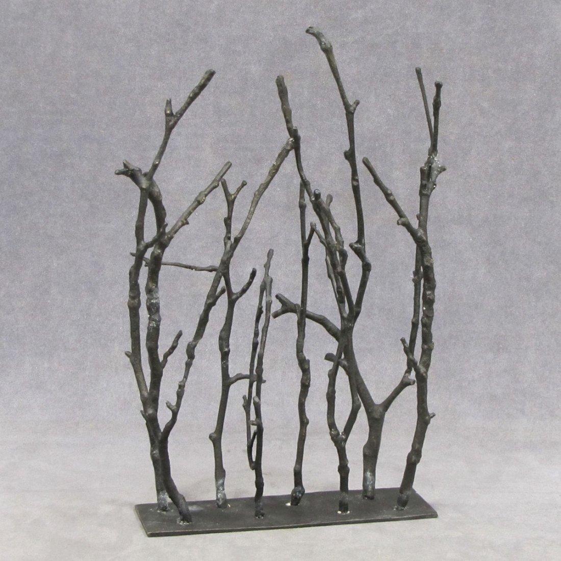 Art Modern Patinated Bronze Coral Design Sculpture
