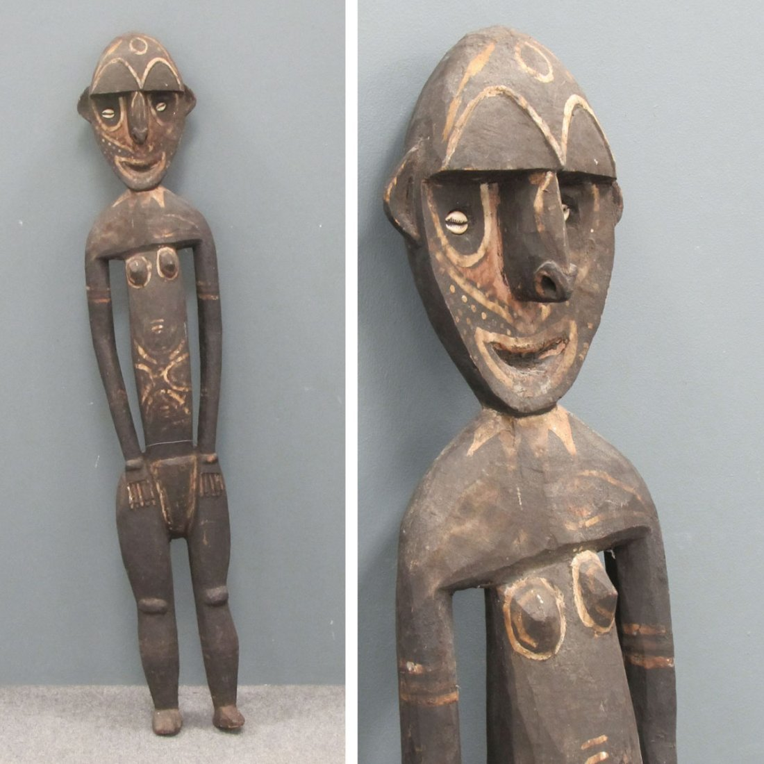KWOMA CULTURE CARVED AND PAINTED NOGWI FIGURE