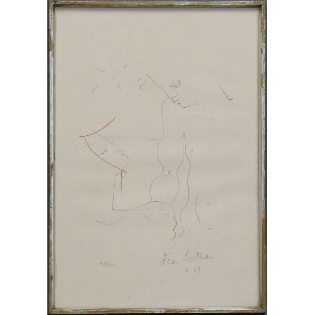 JEAN COCTEAU (FRENCH 1889-1963), LITHOGRAPH