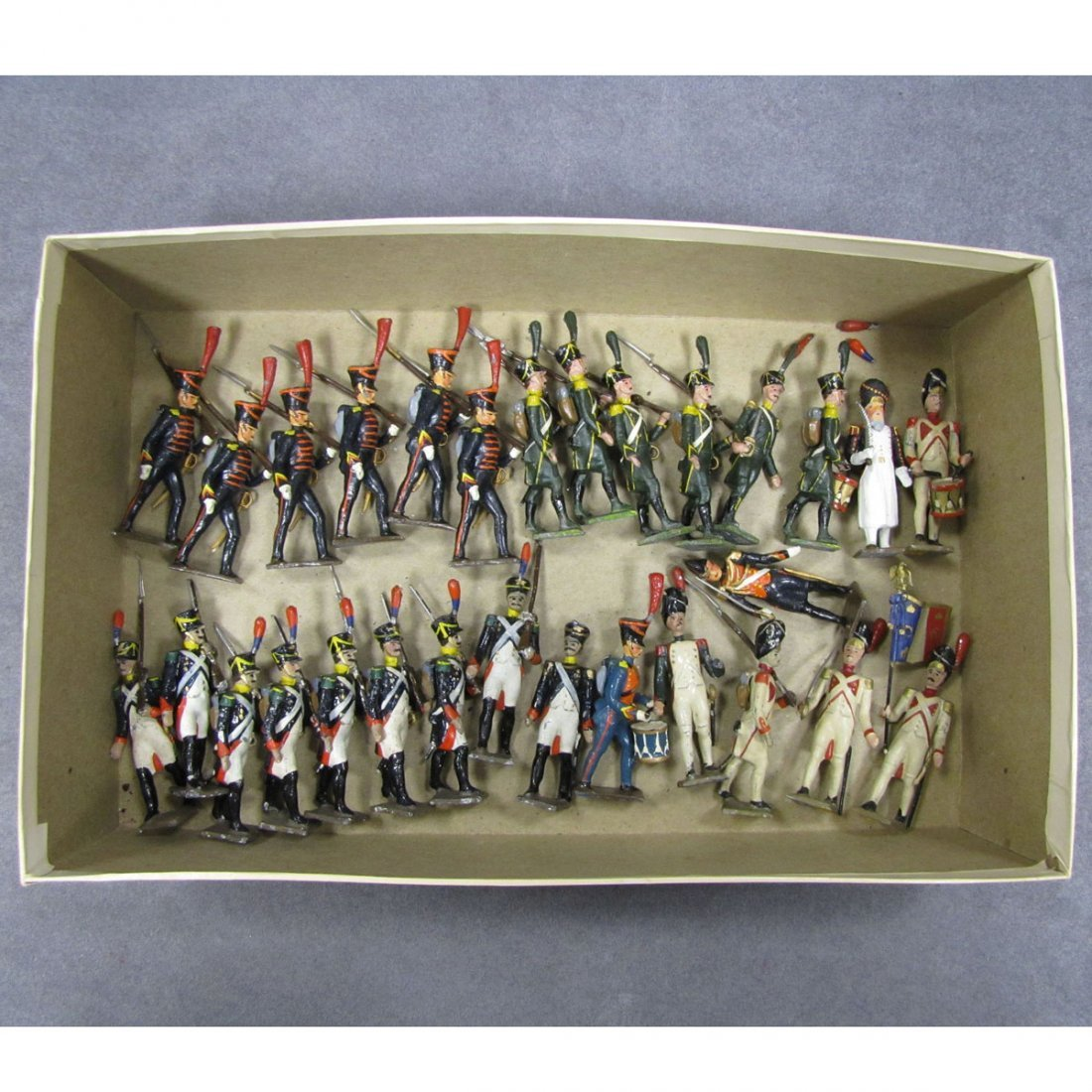 LOT (29) ASSORTED FRENCH HAND PAINTED LEAD SOLDIER