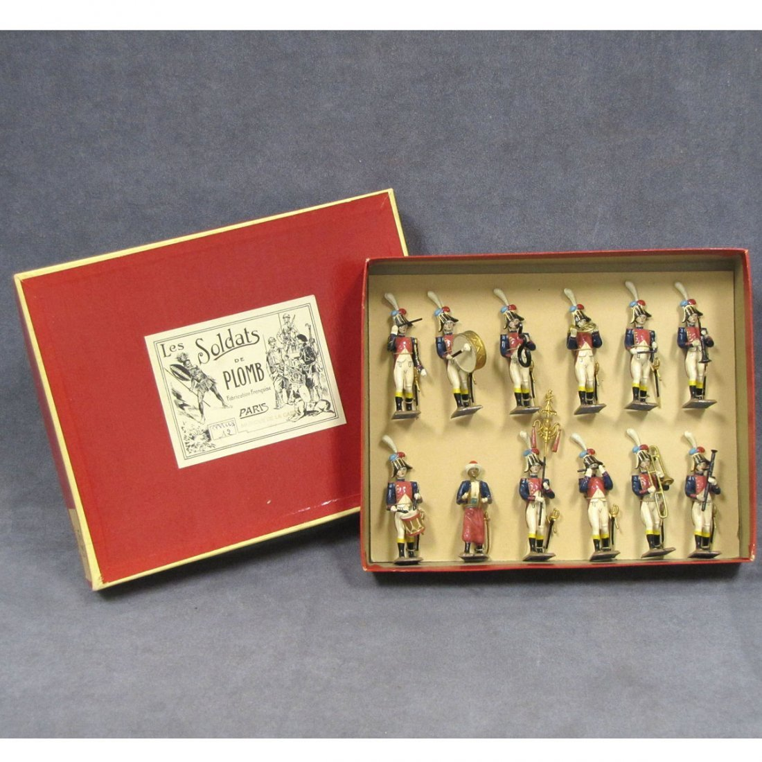 SET (16) MIGNOT PAINTED LEAD FIGURES