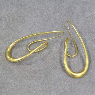 MICHAEL GOOD 750 YELLOW GOLD EARRINGS