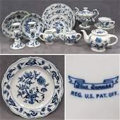 LOT BLUE DANUBE DECORATED PORCELAIN DINNERWARE