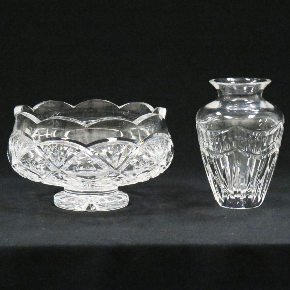 LOT (2) WATERFORD CUT CRYSTAL INCLUDING VASE