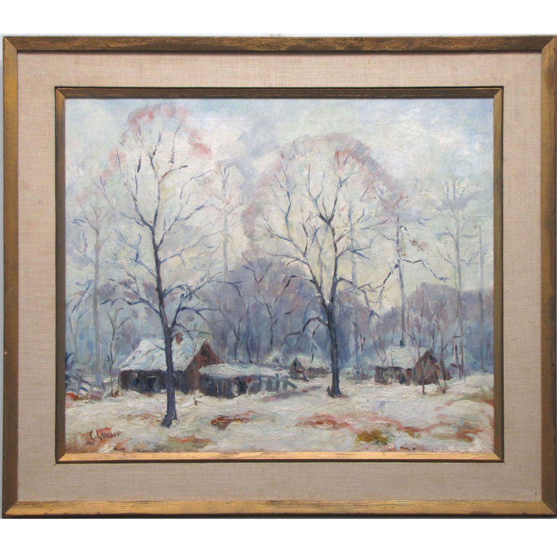 ERNEST LAWSON (AMERICAN NY/CT 1873-1939), OIL