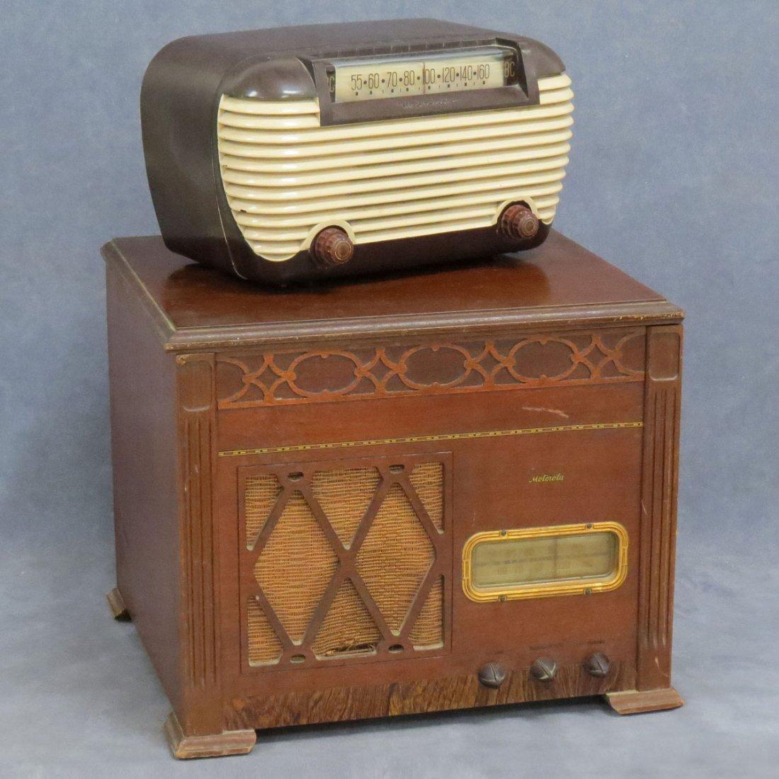 LOT (2) VINTAGE MOTOROLA TABLE RADIO