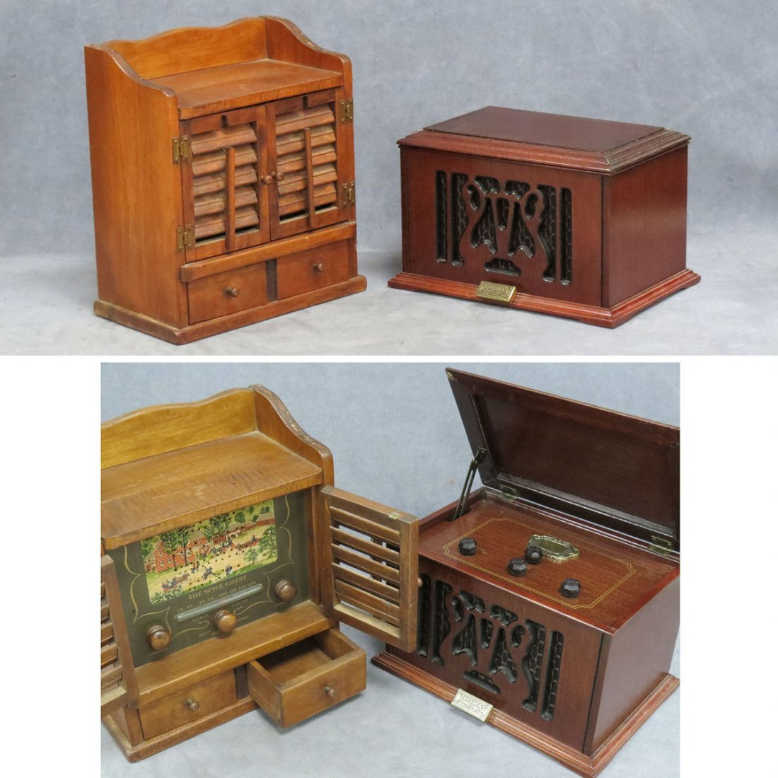 """LOT (2) INCLUDING GUILD """"SPICE CHEST"""" TABLE RADIO"""