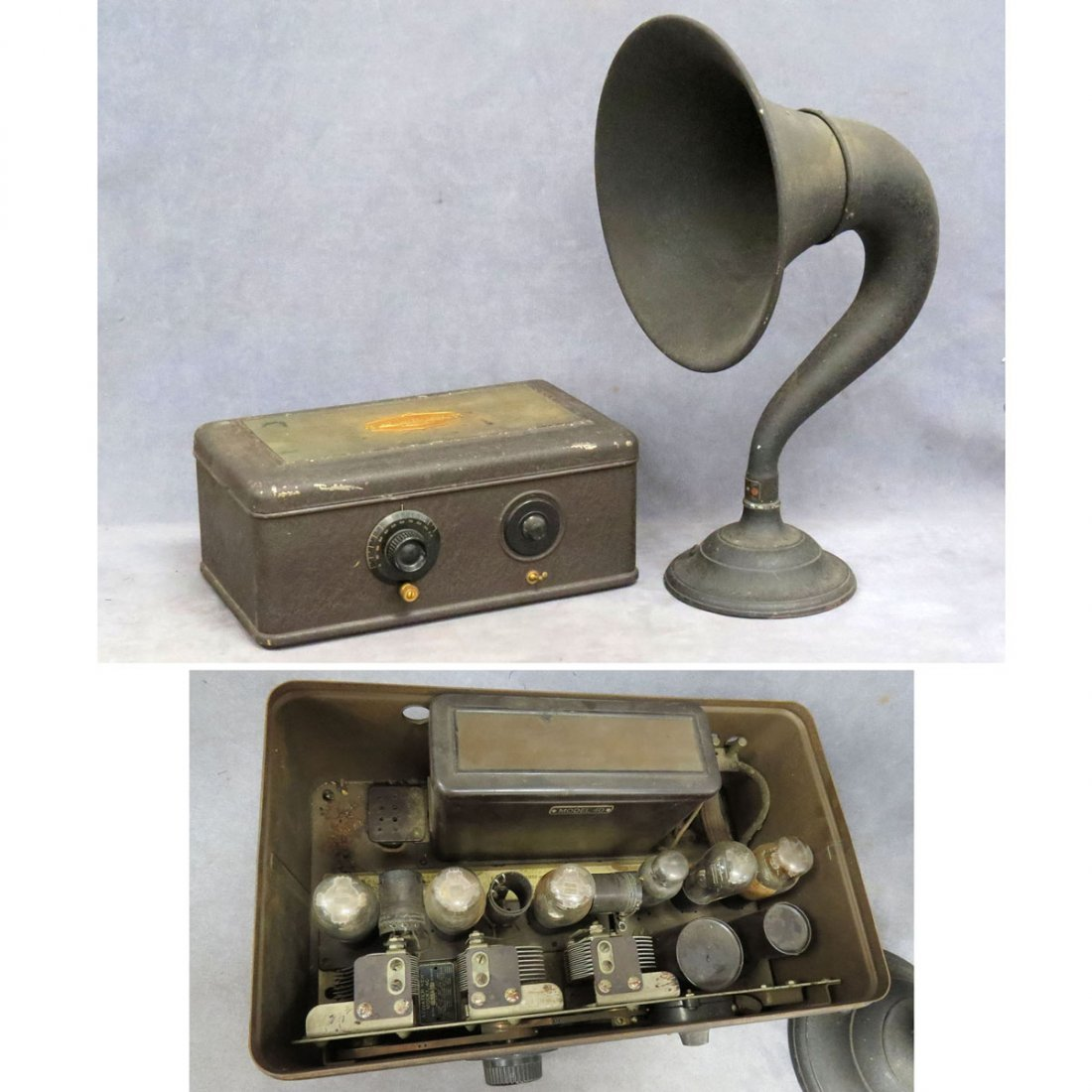 LOT (2) INCLUDING ATWATER KENT MODEL 40 RADIO