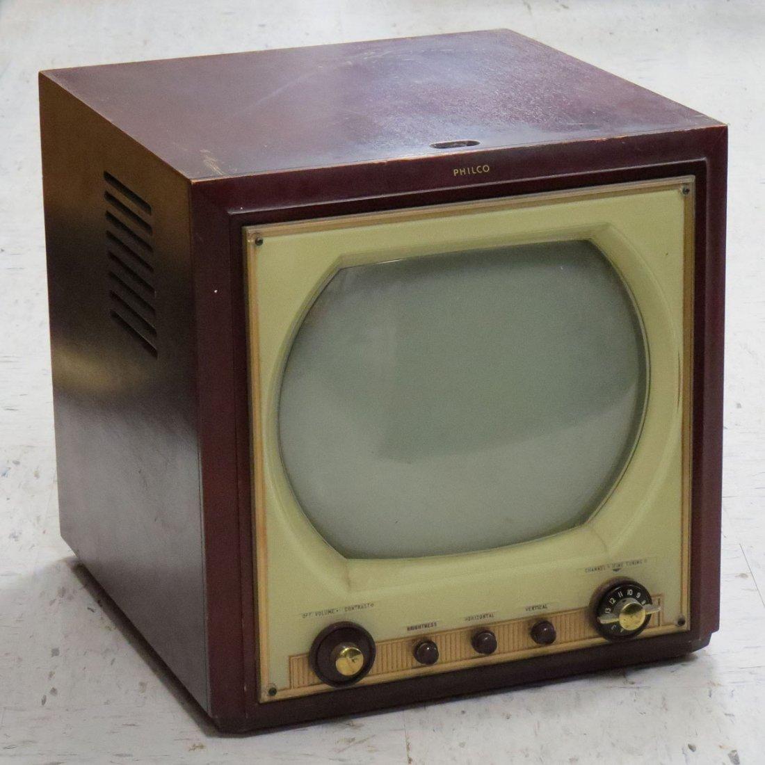 "VINTAGE PHILCO 12"" MODEL 51-PT 1208 TELEVISION"